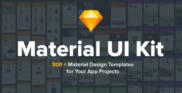 Material Design UI KIT  for Sketch