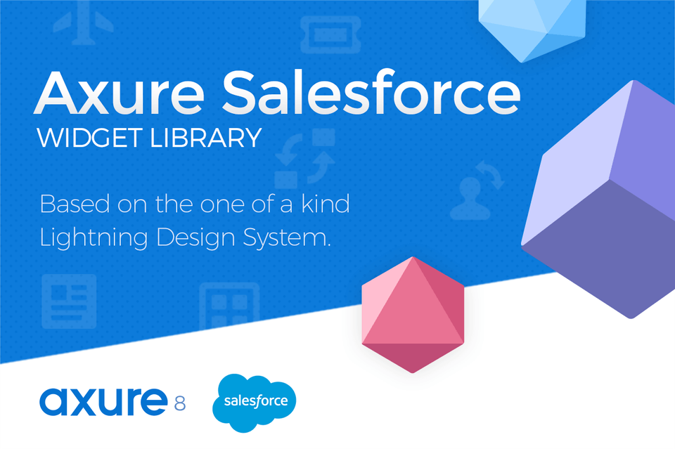 Axure SalesForce Lightning Widget Library
