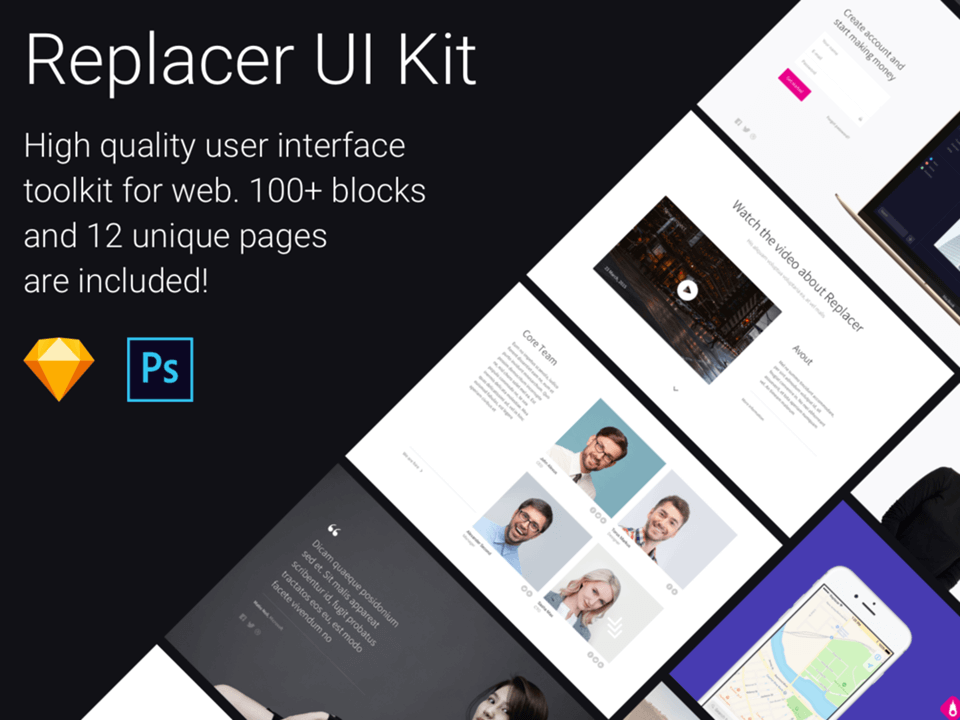 Replacer UI Kit for Sketch