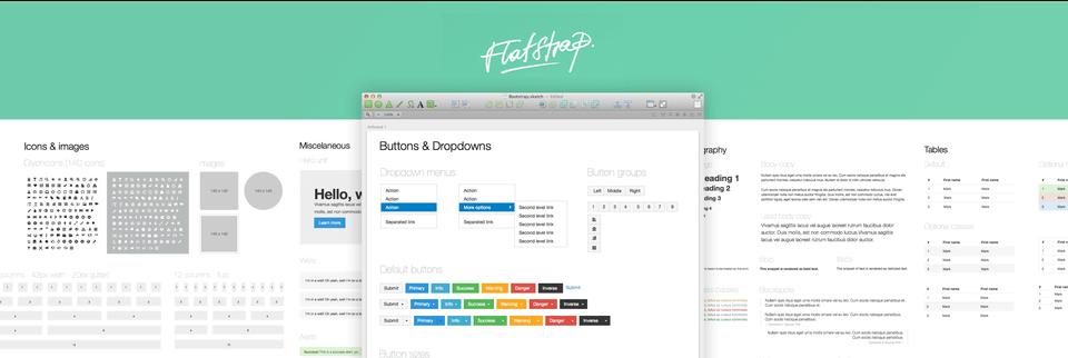 Flatstrap UI Kit  for Sketch