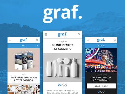 Graf Mobile Portfolio Photoshop UI Kit