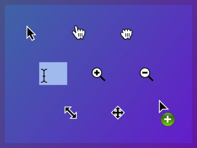 Nifty OS X Sketch app cursors UI Kit