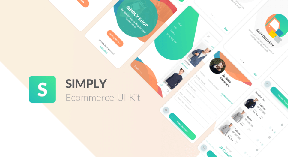 Simply e-commerce UI Kit for Sketch