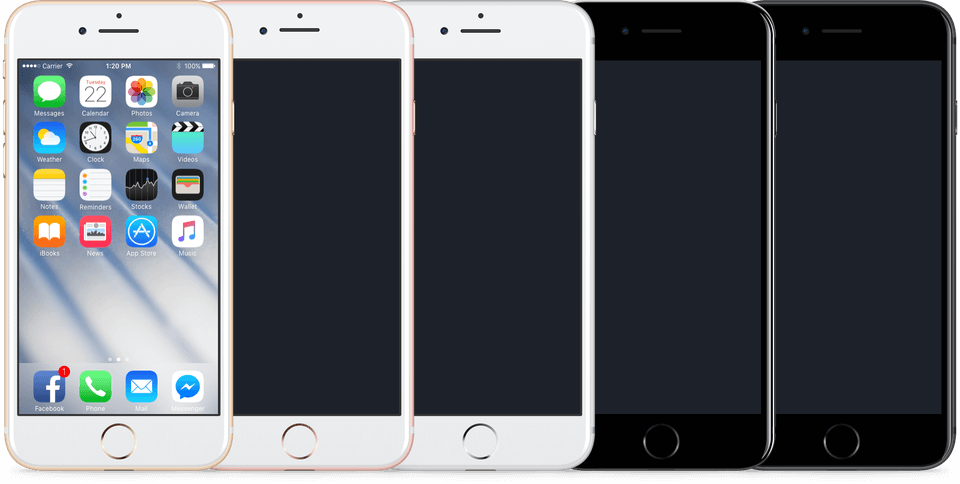 iOS 9 GUI KIT (iPhone) for Photoshop