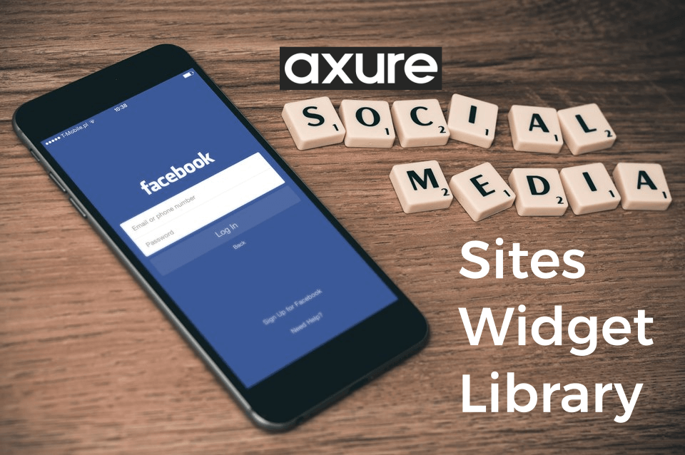 Axure Social Media Sites Widget Library