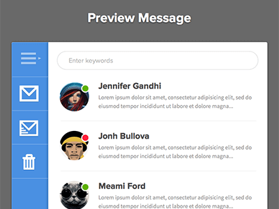 Preview Message Sketch UI Kit