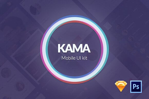 Kama Mobile UI Kit for Sketch