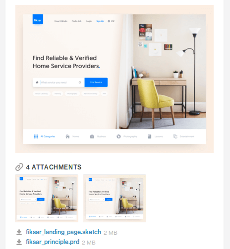 Home Services Landing Page UI Kit for Sketch