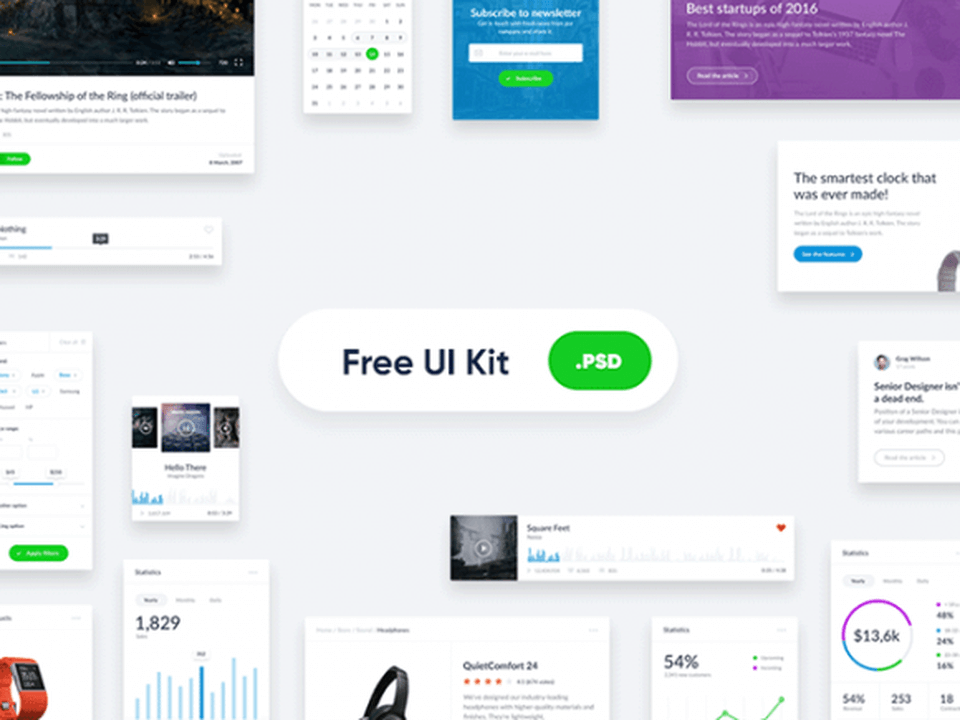 Basic Photoshop Widget UI KIT