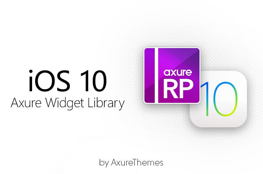 iOS 10 Axure Widget Library