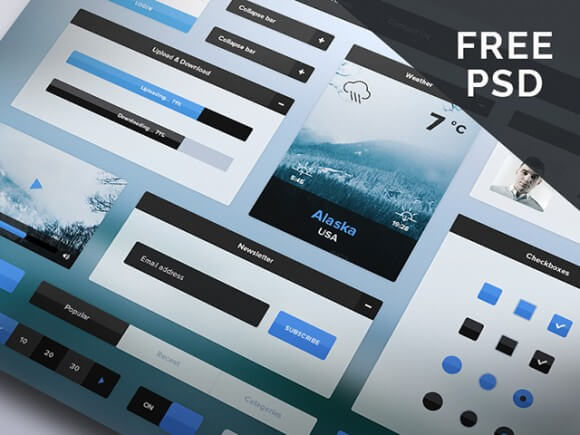 Winter Photoshop UI Kit