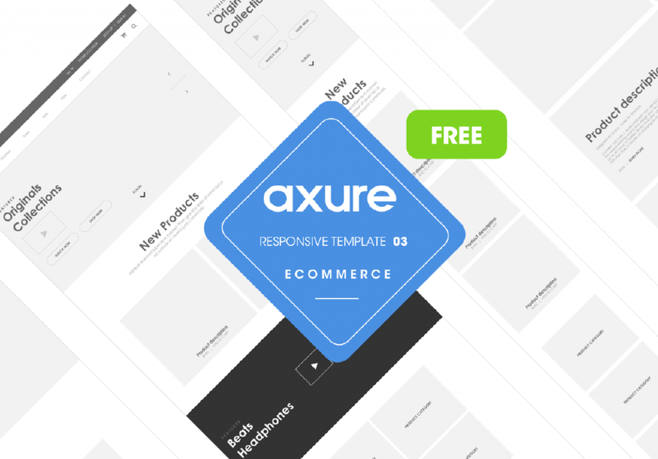 Axure Responsive Ecommerce Widget Library