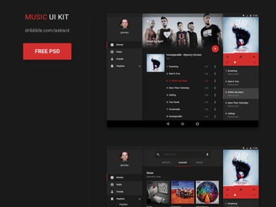 Music UI Kit for Photoshop
