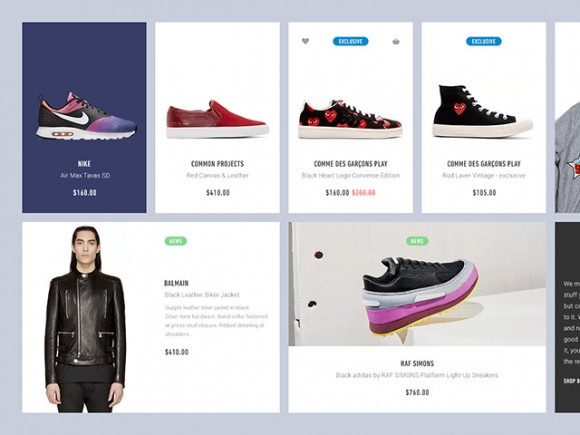 Ecommerce UI Kit blocks for Photoshop