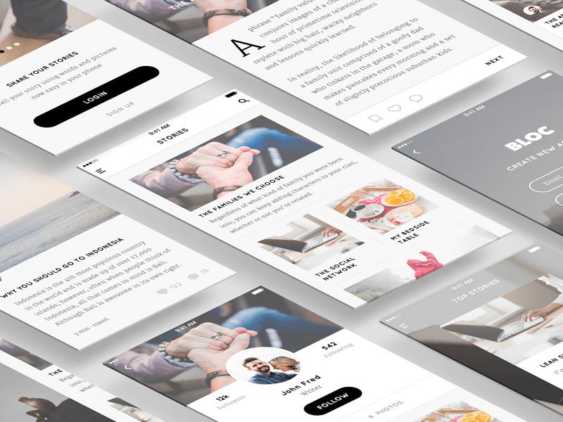 Blog UI Kit for Sketch
