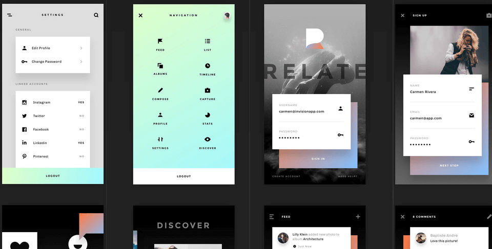 Relate UI Kit for Sketch