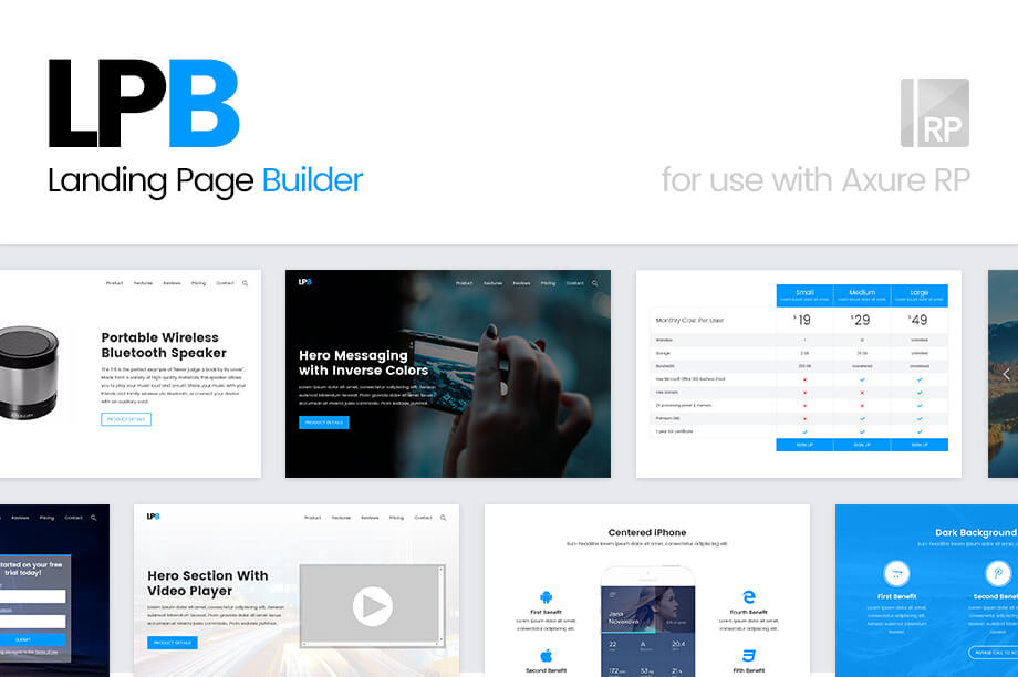Axure Landing Page Builder