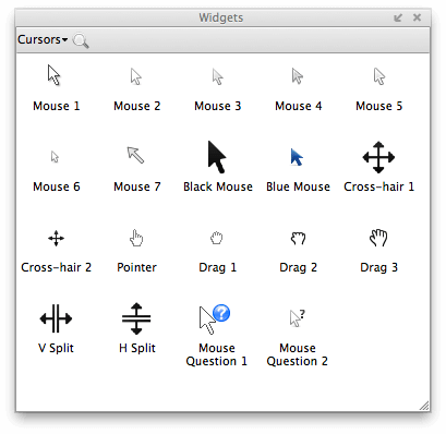 Axure Modest Mouse Cursors Widget Library