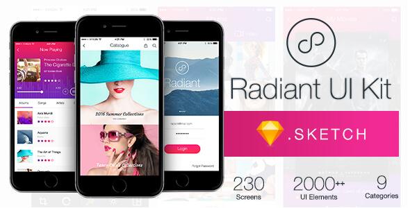 Radiant UI Kit 200+ for Sketch