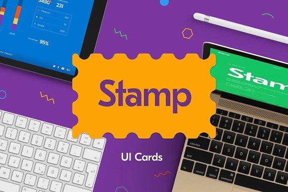 Stamp UI Kit Cards for Sketch