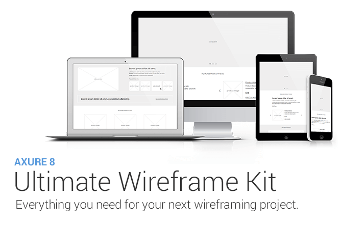 Ultimate Axure 8 Wireframe Kit