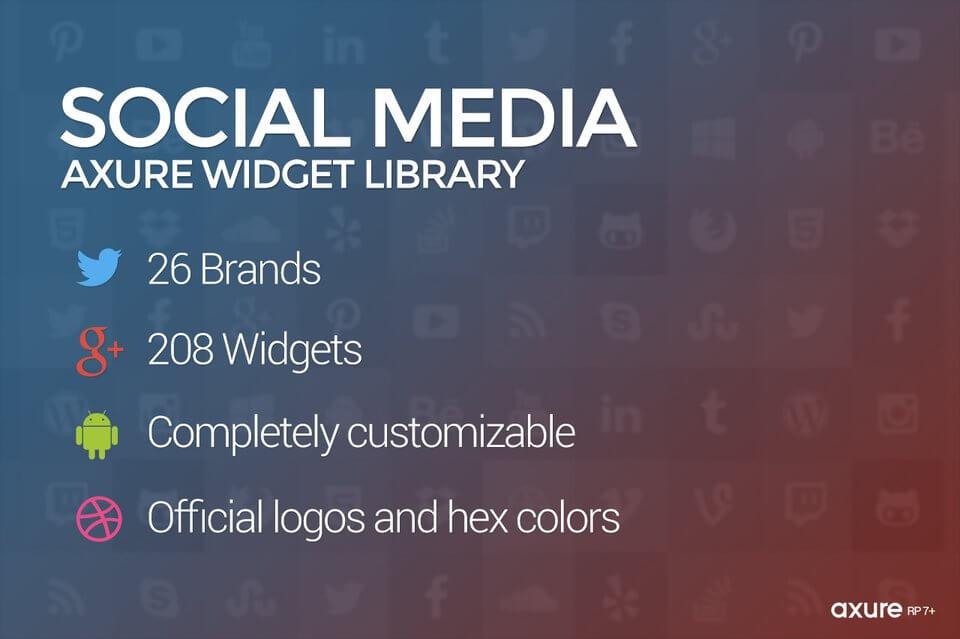 Axure Social Media Widget Library