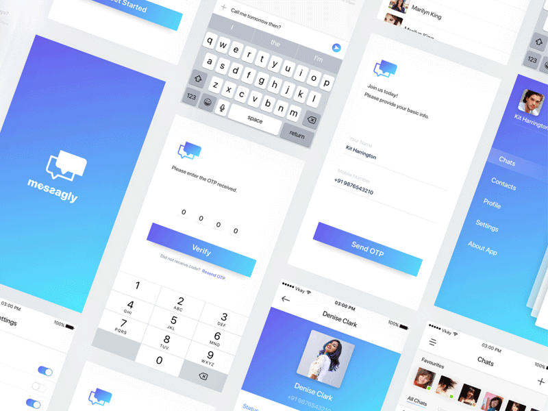 Messaging UI Kit for Sketch