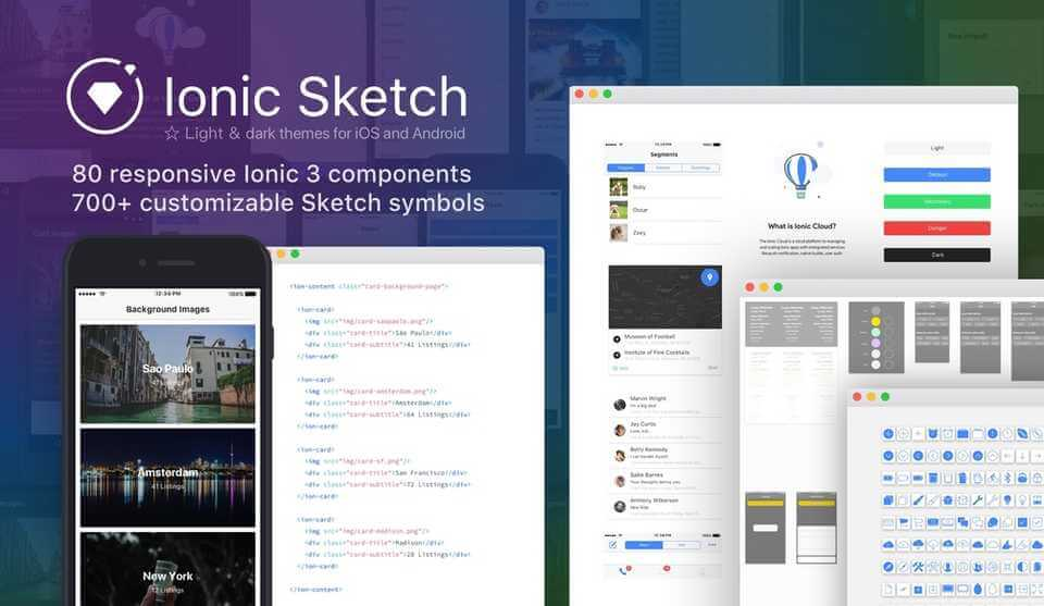 Ionic Sketch 1 5 UI Kit - UX/UI Land