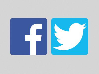 Facebook & Twitter logo UI Kit for Sketch