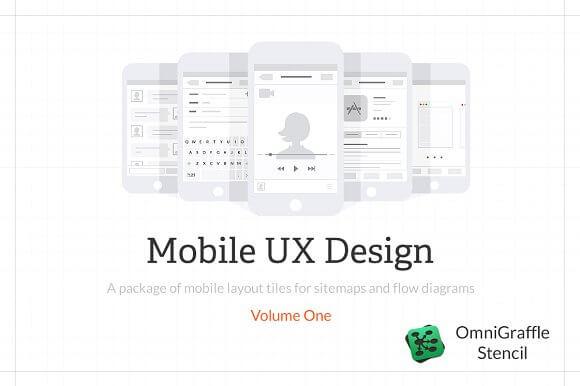 Mobile UX Design Tiles V1 Omnigraffle Stencil