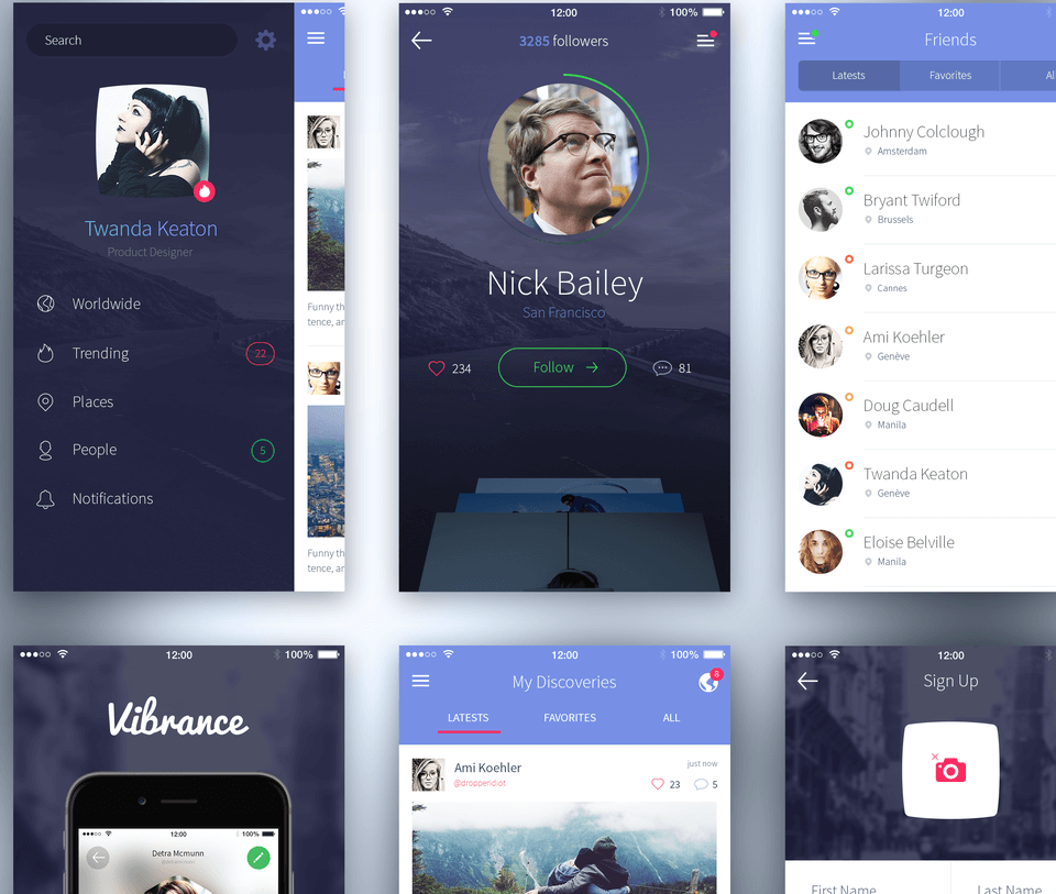 iPhone 6 Photoshop UI Kit