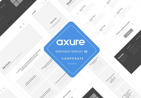 Axure Responsive Corporate template2