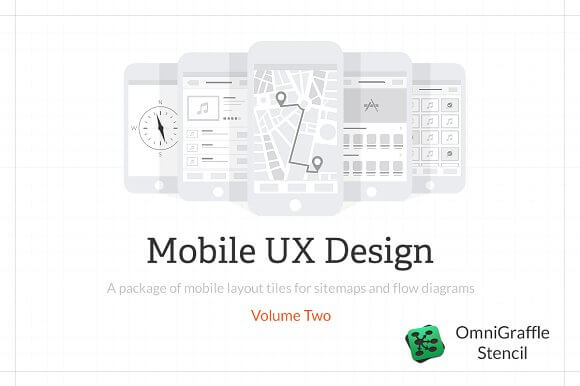 Mobile UX Design Tiles V2 Stencil Omnigraffle