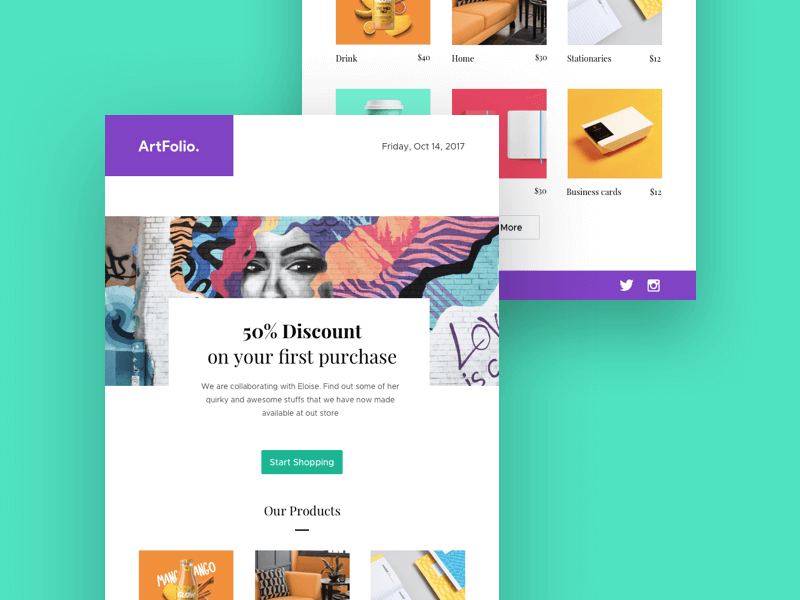 Newsletter Template UI KIt fo Sketch