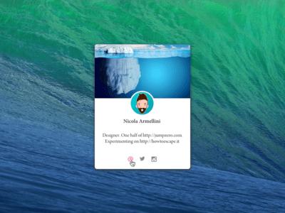Profile Card Sketch UI Kit
