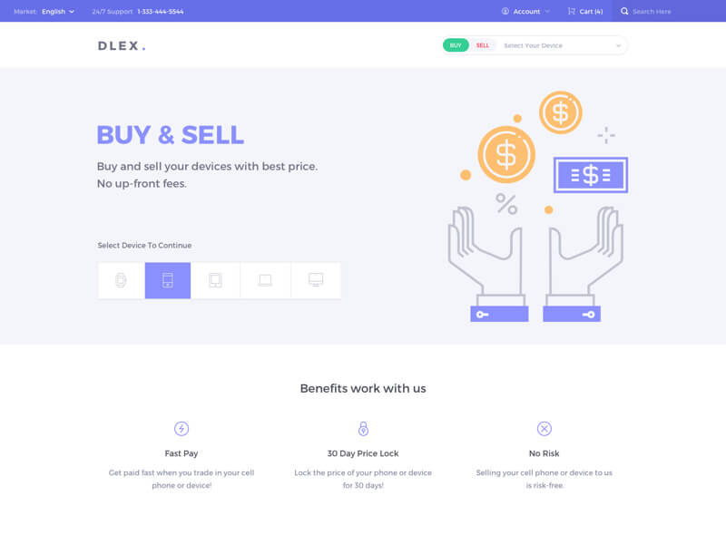 Dlex E-Commerce UI Kit for Sketch