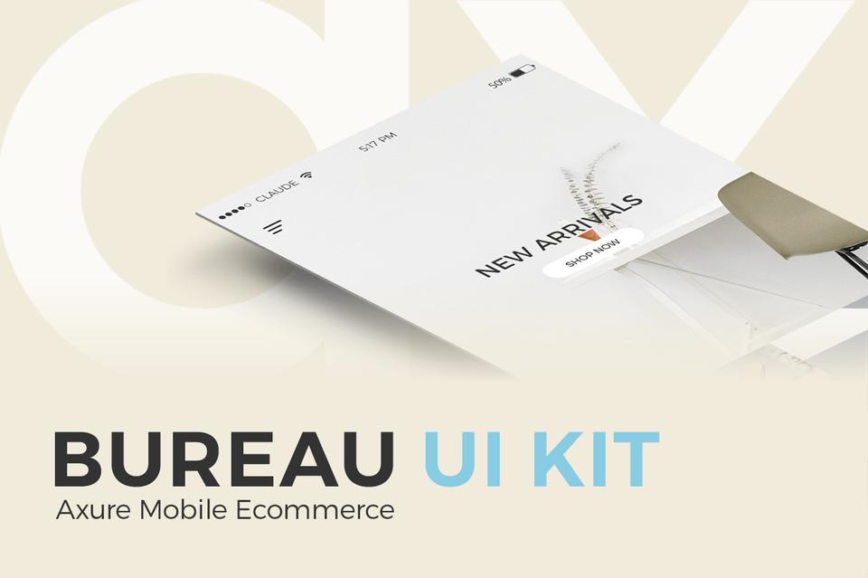 Bureau UI Kit - Axure Mobile Ecommerce