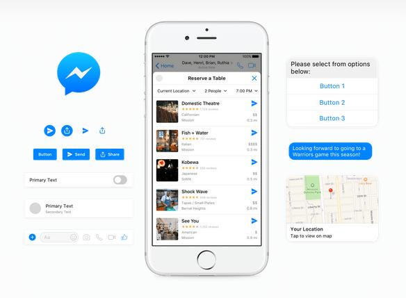 Messenger Platform Design UI Kit for Sketch