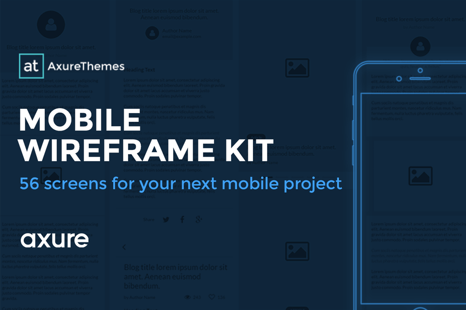 Axure Mobile Wireframe Kit Widget Library