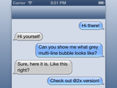 Apple iMessage Bubbles Sketch UI Kit