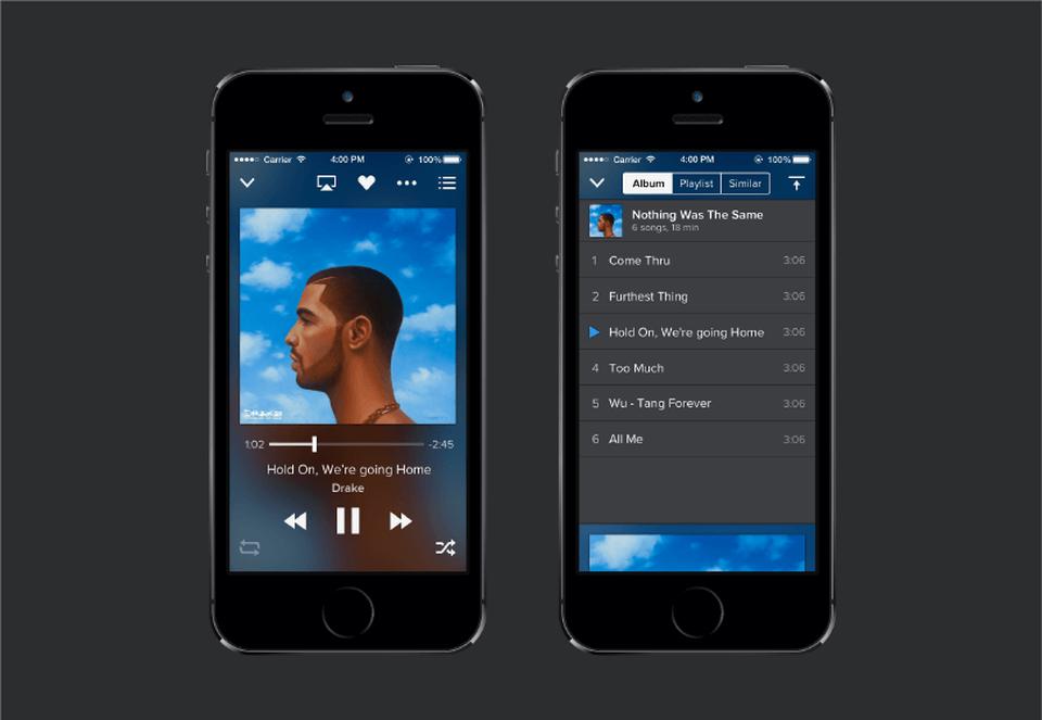 Music Player app Sketch UI Kit