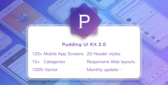 Pudding UI KIT  for Sketch