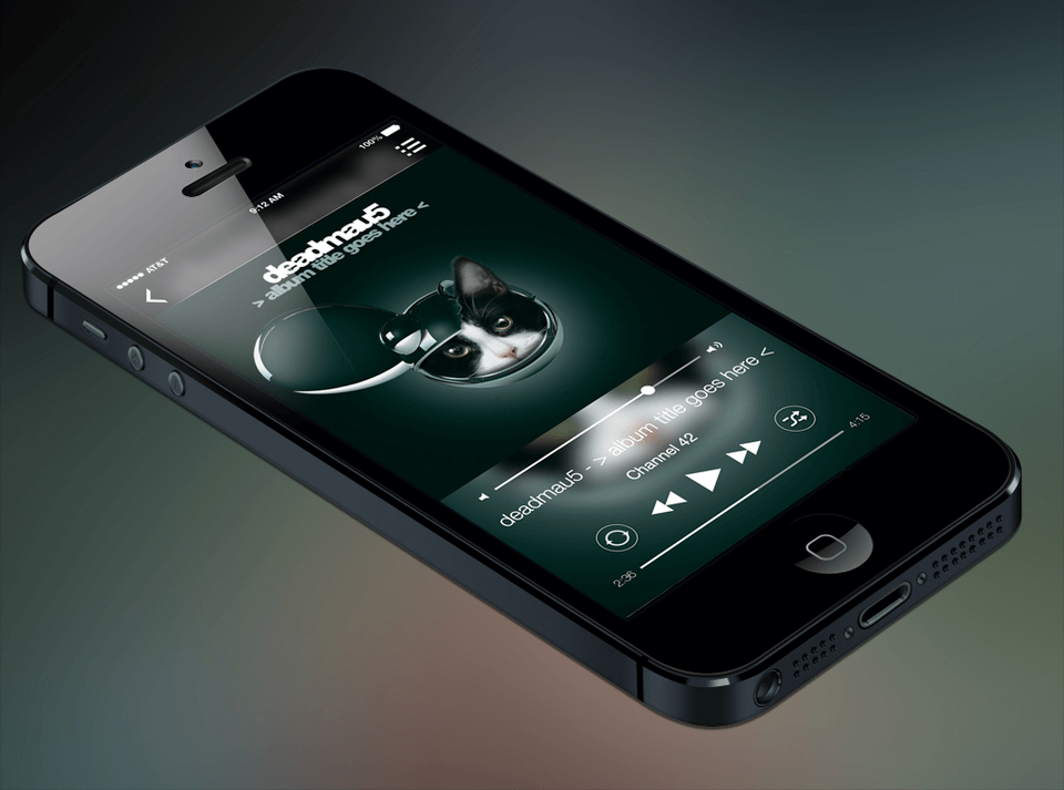 Apple iOS Music Player UI Kit for Sketch
