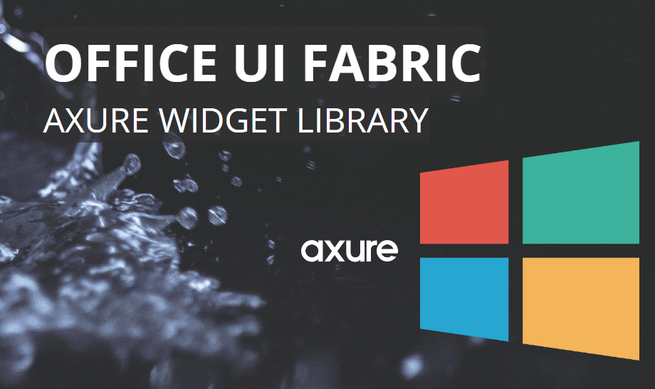 Axure Office UI Fabric Widget Library