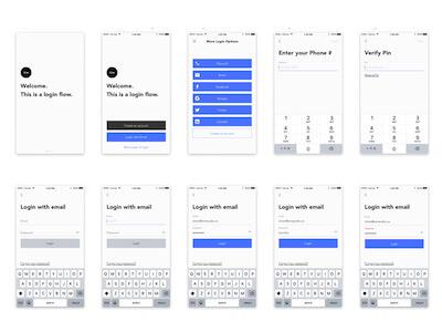 Login Screens UI Kit for Sketch
