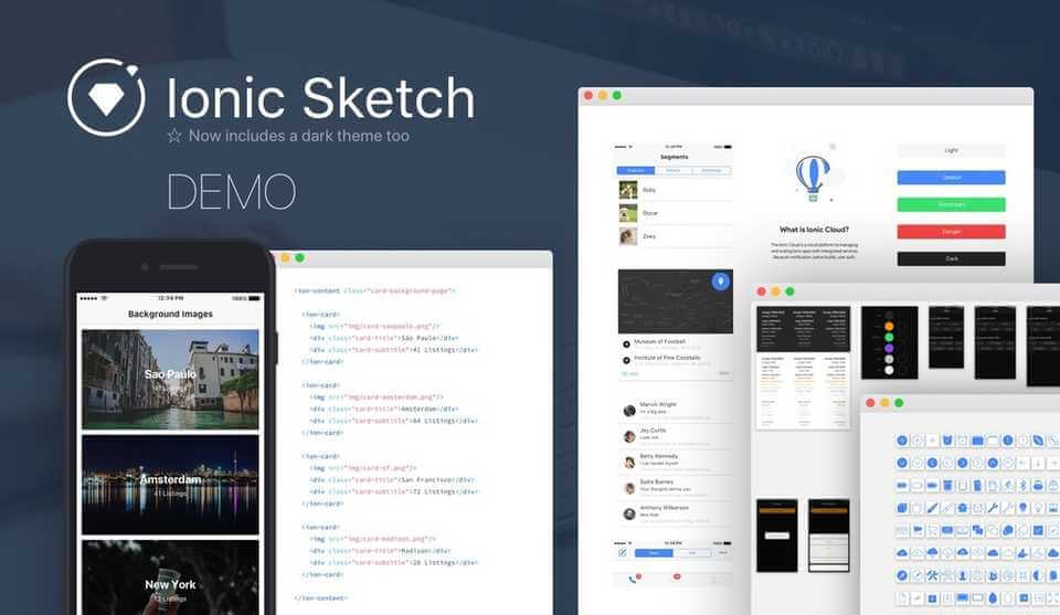 Ionic Sketch 1.5 DEMO UI Kit