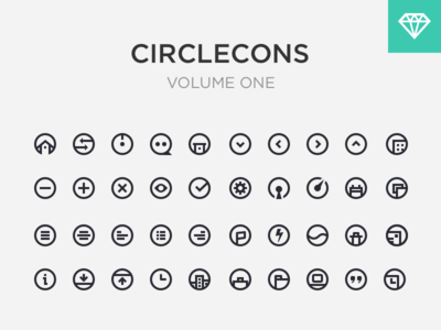 Circlecons Sketch UI Kit