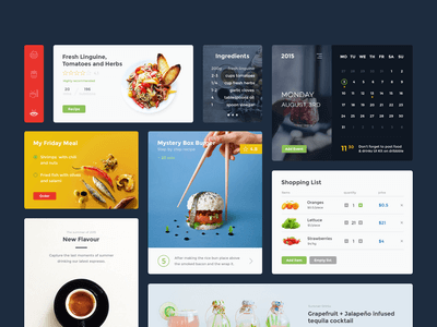 Food & Drink Sketch UI Kit