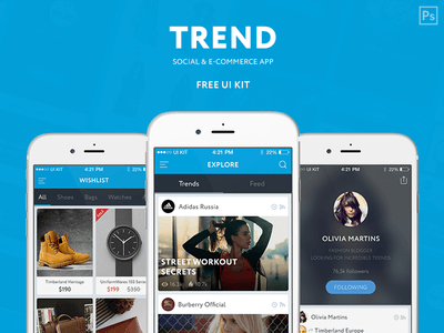 TREND Photoshop UI KIT