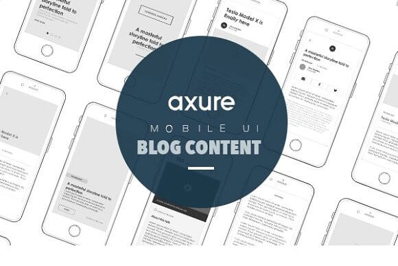 Axure Mobile UI Library for blog article
